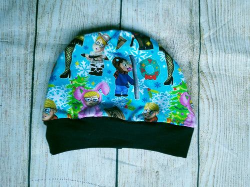 Toddler Beanie - Christmas Story Blue