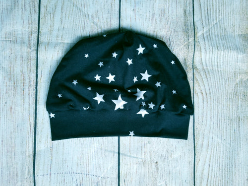 Toddler Beanie - Black Stars