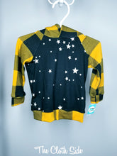 Load image into Gallery viewer, Raglan  Hoodie - Mustard Buffalo Stars - 12-18mo