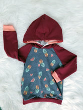 Load image into Gallery viewer, Raglan  Hoodie - Fruit - 2/3T