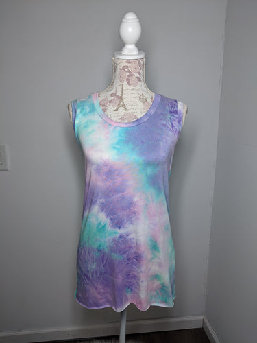 Tie Dye Monica Tanks - Large (Lilac)