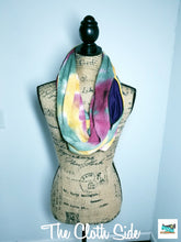 Load image into Gallery viewer, Snack Scarf - Tie Dye with Purple Pocket