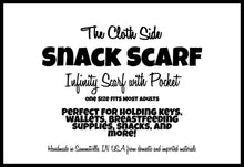 Load image into Gallery viewer, Snack Scarf - Tossed Fruit with Sherbert Pocket