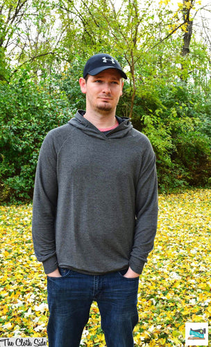 Custom Listing: Men's Tall Raglan Hoodie - M