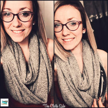 Load image into Gallery viewer, Snack Scarf - Turquoise with Black Pocket