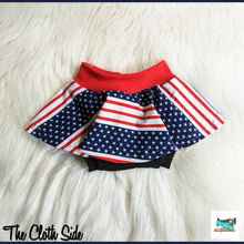 Load image into Gallery viewer, Patriotic Skirted Bummies - NB-5T