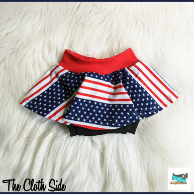 Patriotic Skirted Bummies - NB-5T