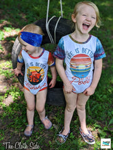 Load image into Gallery viewer, Red, White, and Blue Inspired Tie Dye Rompers - NB-4T