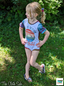 Red, White, and Blue Inspired Tie Dye Rompers - NB-4T