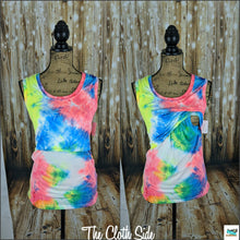 Load image into Gallery viewer, Tie Dye Monica Tanks - M (Neon)