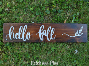 Fall Collection: Hello Fall Sign