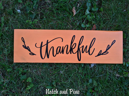 Fall Collection: Thankful Sign