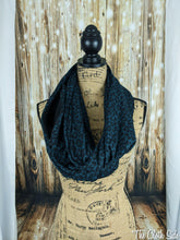 Load image into Gallery viewer, Snack Scarf - Teal Leopard with Black Pocket