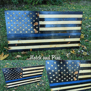 Thin Blue Line Flag - Standard Size (2x3ft)