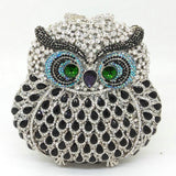 Boutique De FGG Owl Women Diamond Evening Clutch Bag Party Crystals Clutches Wedding Purses Ladies Hollow Out Handbags Bolsas