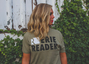 Erie Reader Tee in Olive