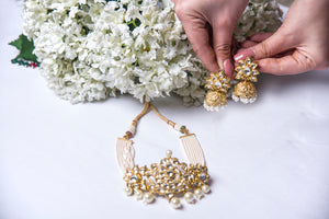 Kundan and Pearl Set