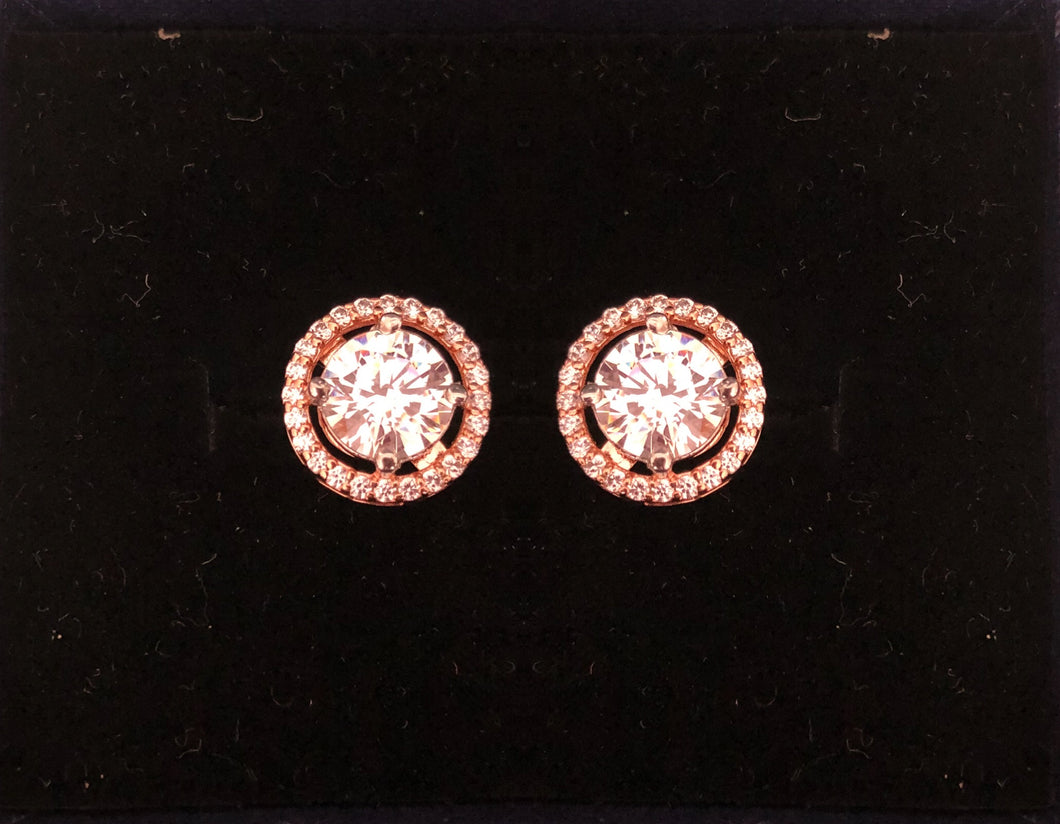 Rosegold round-shaped earrings