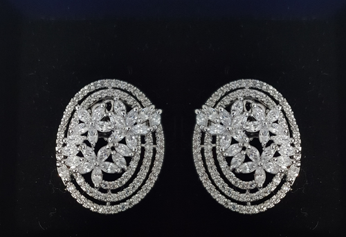 Diamond Circuit Earrings