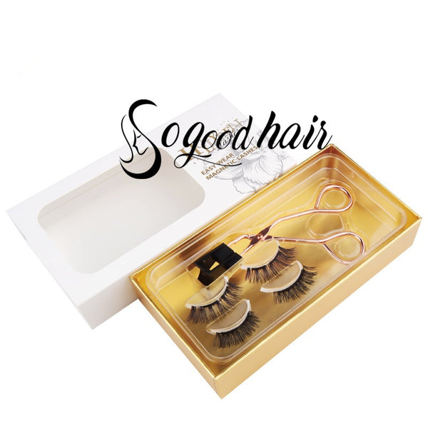 Easy Wear Magnetic Eyelashes & Clip - sogoodhair