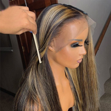 Queen 3/27 Straight 100% Human Hair Lace Wig