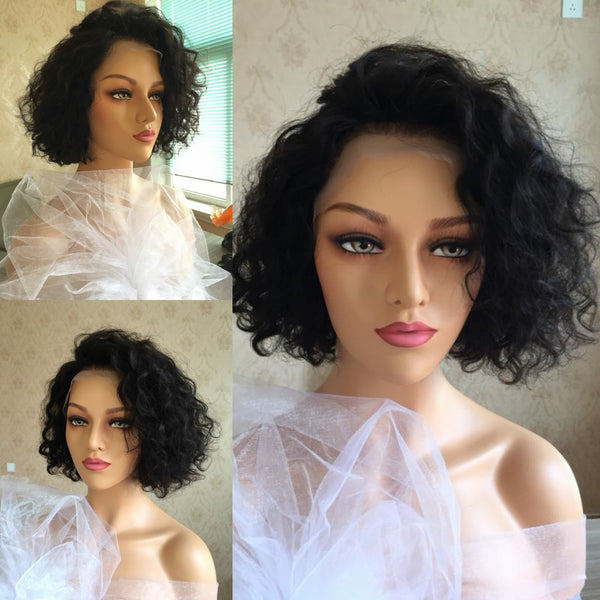 Tidy Curly| Pixie Cut Virgin Human Hair Lace Wig