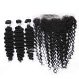 3 Bundles With 13x4 Lace Frontal Deep Wave - sogoodhair