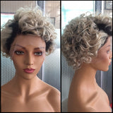 Ombre Blonde| Pixie Cut Virgin Human Hair Lace Wig - sogoodhair