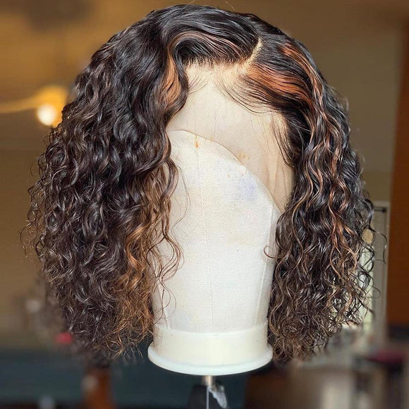 Ombre Curly Bob Lace Frontal Wig