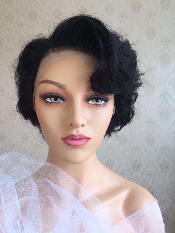 Loose Wave| Pixie Cut Virgin Human Hair Lace Wig - sogoodhair