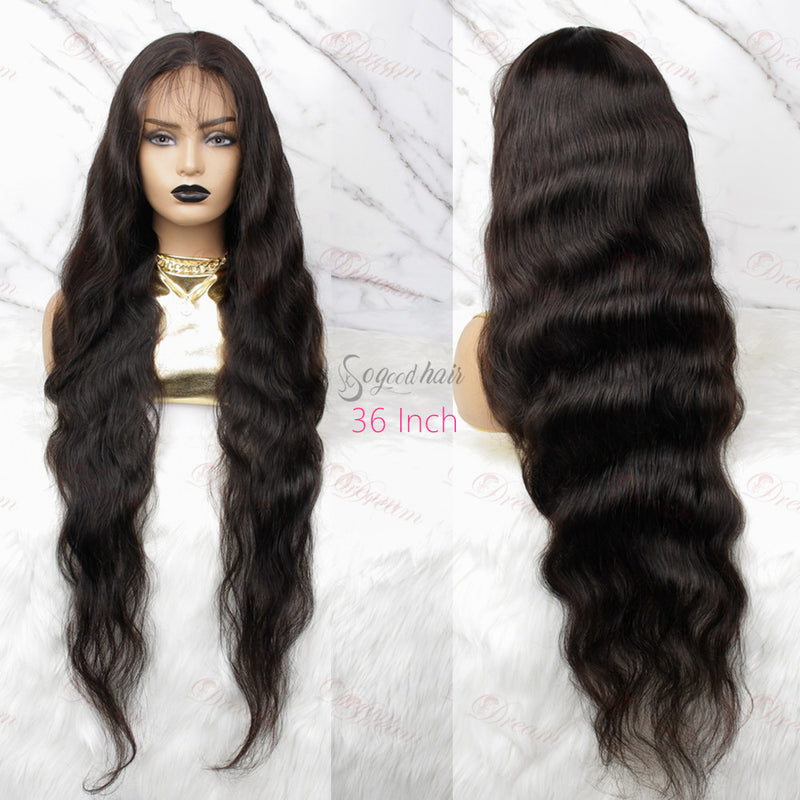 24-40 Inch 200% Density Human Hair Lace Front Wig