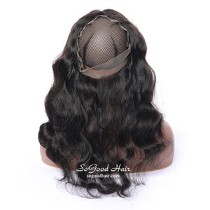 Pre-plucked 360 Lace Frontal| Loose Wave Brazilian Virgin Hair 10-20inch SoGoodHair--SG4142 - sogoodhair
