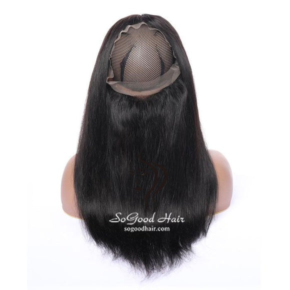Pre-plucked 360 Lace Frontal| Straight Brazilian Virgin Hair 10-20inch SoGoodHair--SG4102 - sogoodhair