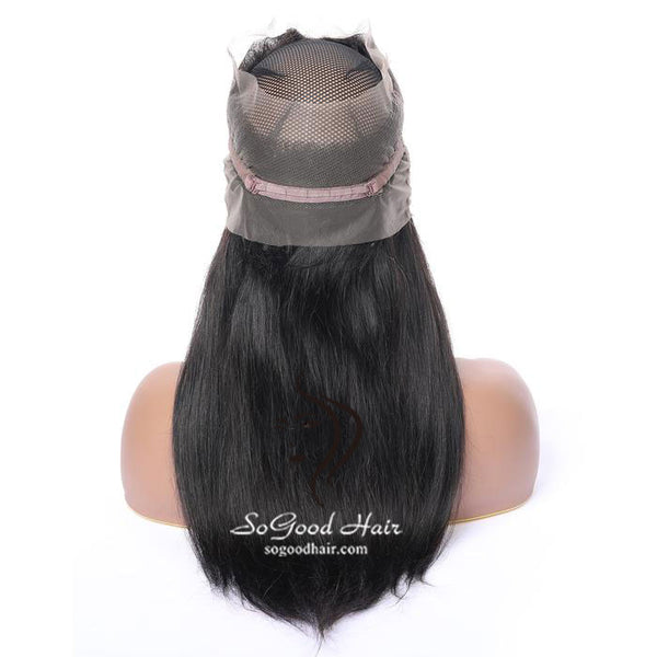 360 Lace Frontal Straight Natural Color Brazilian Virgin Hair 10-20inch SoGoodHair--SG4102 - sogoodhair