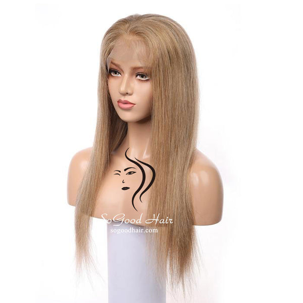 Brazilian Hair 13*4 Lace Front Wig Straight #27 Pre Plucked natural hairline SoGoodHair--SG1400 - sogoodhair