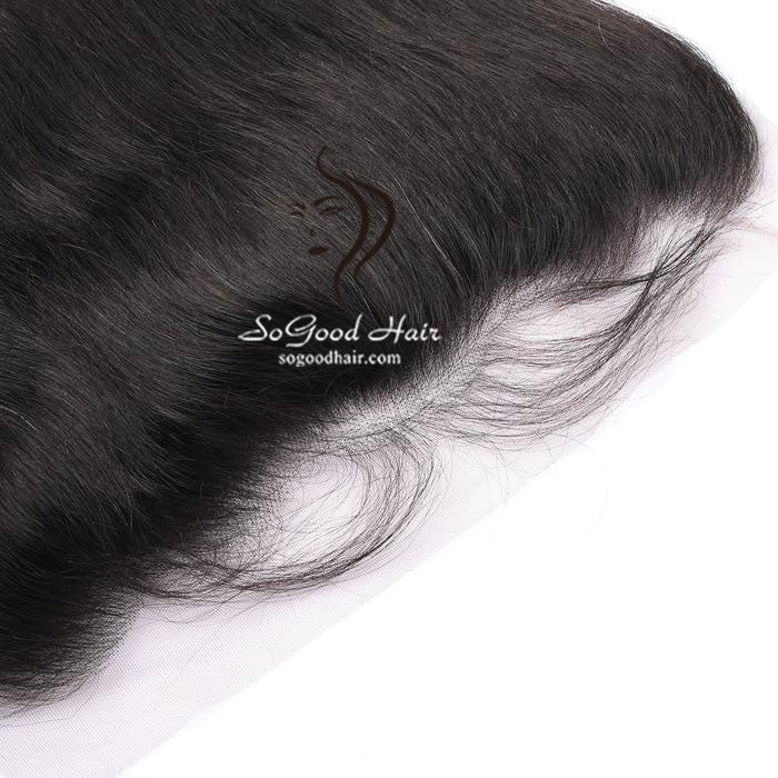 3 Bundles With Frontal Straight Natural Color Malaysian Virgin Hair 10-24inch SoGoodHair--SG5102 - sogoodhair