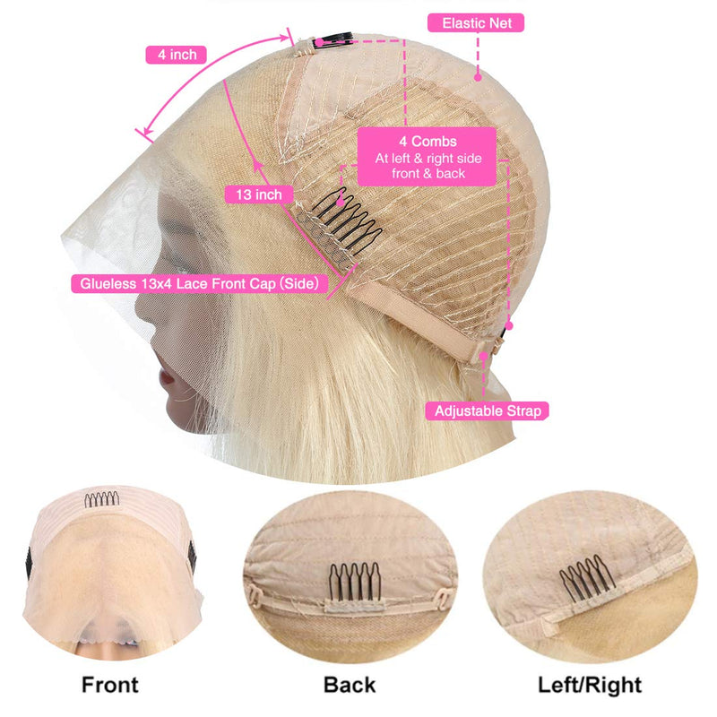 150% Denisty Ombre Blonde Lace Front Bob Wig