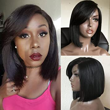 Side Part Bang Bob Lace Front Wig - sogoodhair