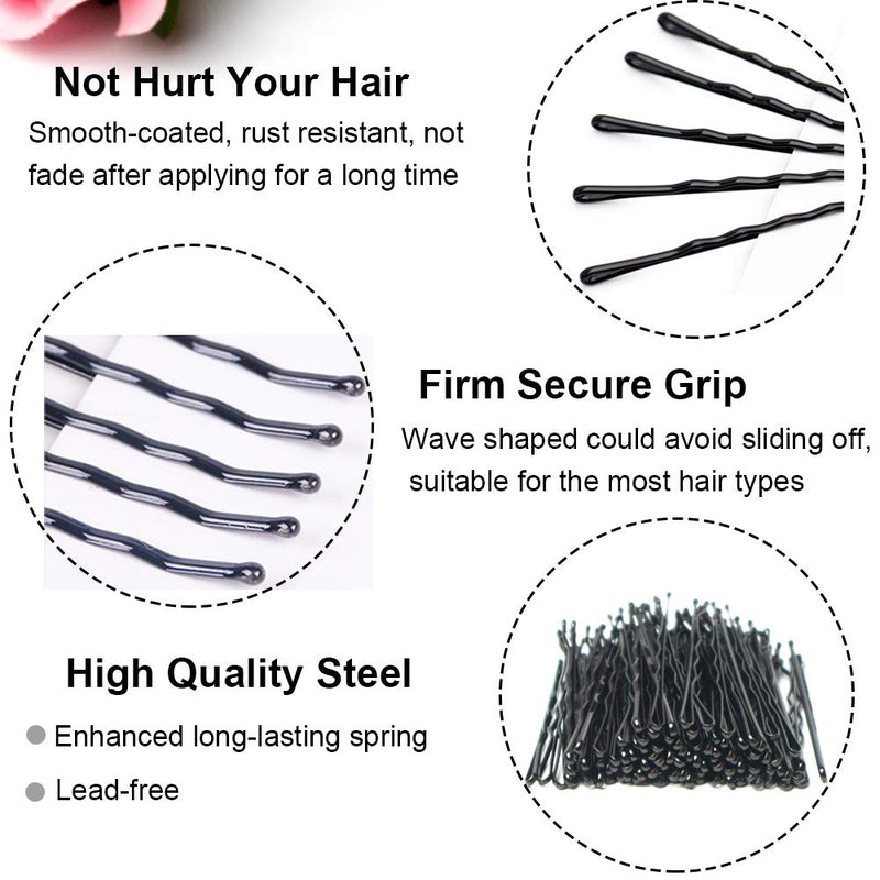 10 Pieces Black Bobby Pins - sogoodhair