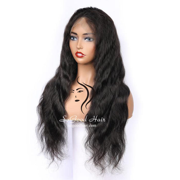 Brazilian Hair 13*6 Lace Front Wig Body Wave Natural Color Pre Plucked hairline SoGoodHair--SG6110 - sogoodhair