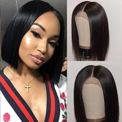 Kween 13x6 Pre-Made Fake Scalp Lace Frontal With Piano Keys Elastic Band Bob Wig