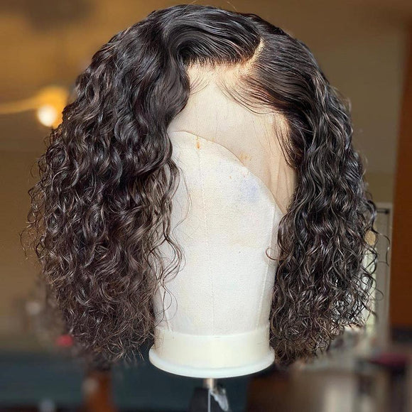 Sharee Wet And Wavy Curly Bob Lace Frontal Wig 150% Density