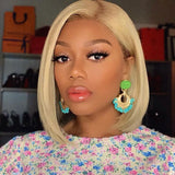 150% Density Blonde BOB Lace Front Wig | Pre-Plucked