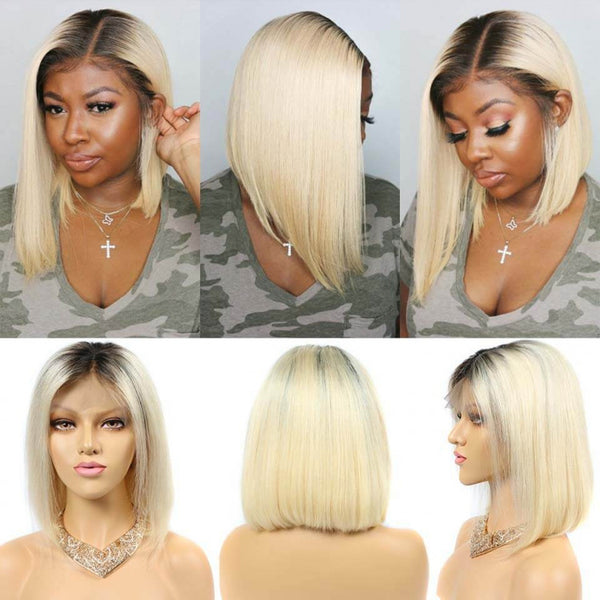 Ombre Blonde BOB Haircut | Lace Front Wig