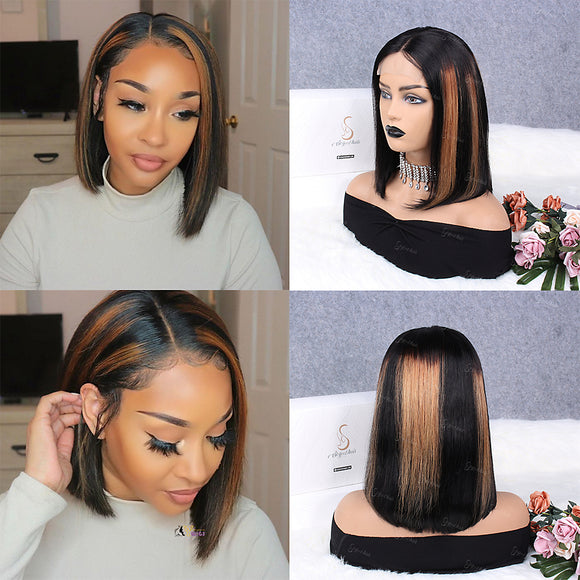 Blunt Bob 4x4 Closure Wig| Pre Plucked& Bleached