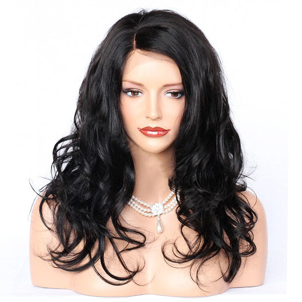 Brazilian Hair 13*6 Lace Front Wig Big Body Wave Natural Color Pre Plucked hairline SoGoodHair - sogoodhair