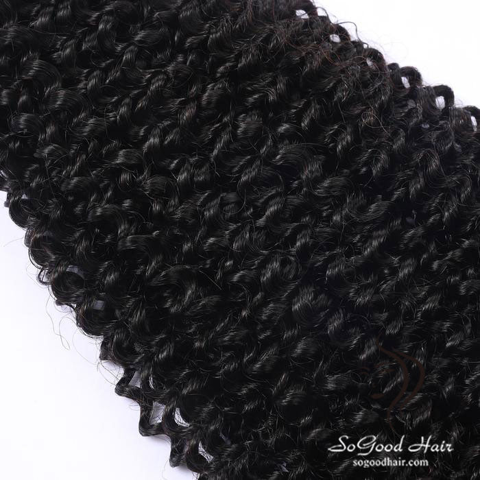 Brazilian Virgin Hair Weave Kinky Curly Natural Color Human Hair Bundles SoGoodHair--SG2152 - sogoodhair