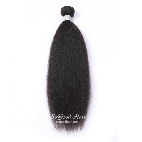 Brazilian Virgin Hair Weave Kinky Straight Natural Color Human Hair Bundles SoGoodHair--SG2132 - sogoodhair