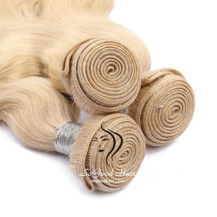 3 Brazilian Virgin Human Hair Bundles Body Wave Blonde 10-30inch SoGoodHair--SG2211 - sogoodhair