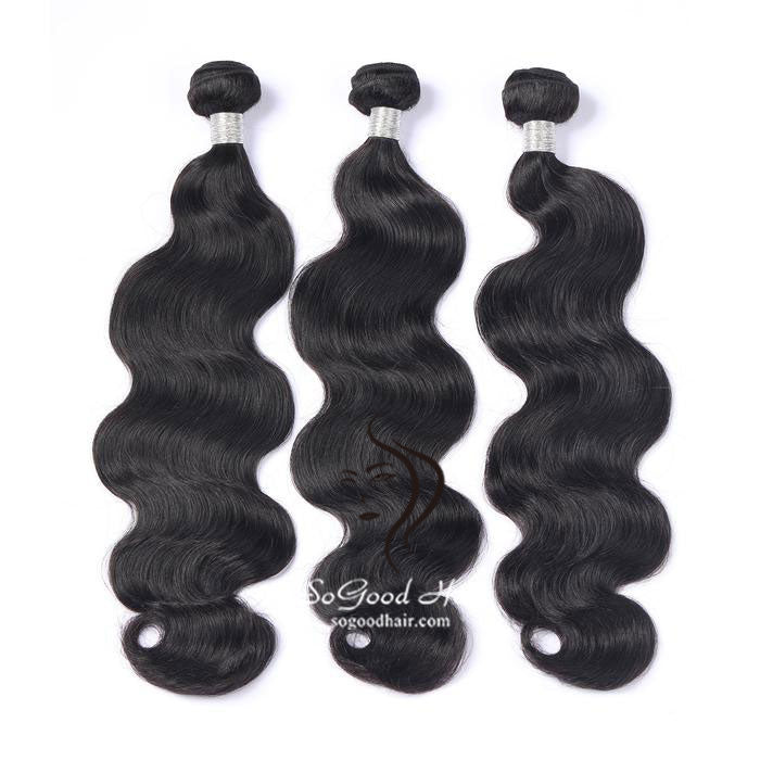 3 Brazilian Virgin Human Hair Bundles Body Wave Natural Color SoGoodHair--SG2111 - sogoodhair